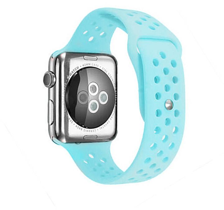 MAX silikonový řemínek MAS44 pro Apple Watch, 42/44mm, tyrkysová