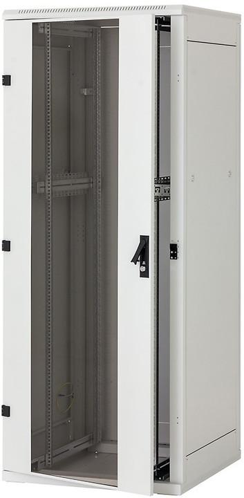 Triton rozvaděč RMA-22-A81-CAX-A1, stojanový, 22U, 800x1000, skleněné dveře, šedý