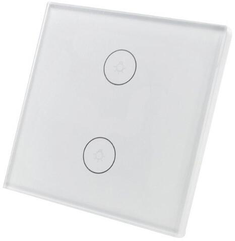 iQtech SmartLife chytrý vypínač, dvojitý, Wi-Fi