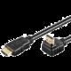 PremiumCord HDMI zahnutý konektor 90° 1m