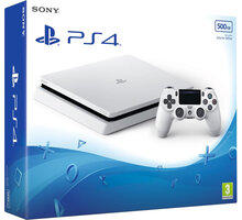 PlayStation 4 Slim, 500GB, bílá - PS719755517