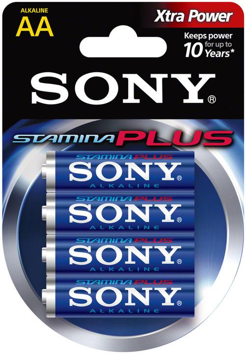"Sony Alkalická baterie ""STAMINA PLUS"" - LR6/AA 1,5V - 4 ks v balení Eco Pack"
