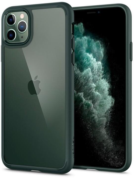 Spigen ochranný kryt Ultra Hybrid pro iPhone 11 Pro, tmavě zelená
