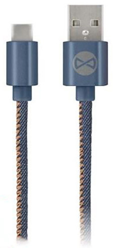 Forever datový kabel TFO USB C-TYPE, JEANS (TFO-N)