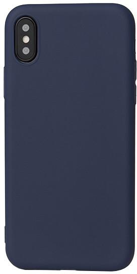 EPICO SILK MATT pružný plastový kryt pro iPhone X - tmavě modrý
