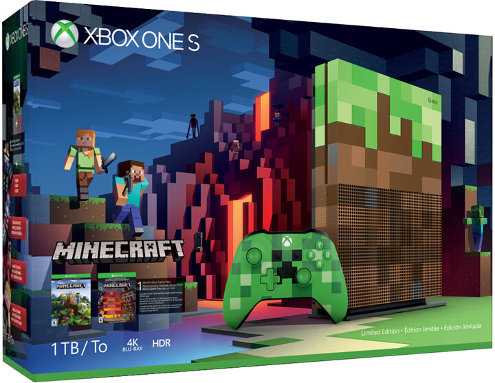 XBOX ONE S, 1TB, Minecraft Limited Edition