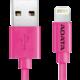 ADATA Synchronizační a napájecí kabel, USB, MFi (iPhone, iPad, iPod), 1m, růžový