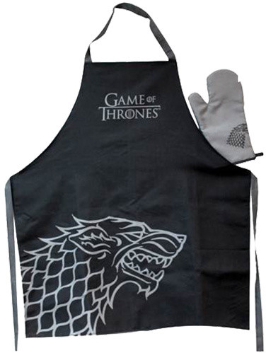 Game of Thrones - Stark - zástěra a chňapka