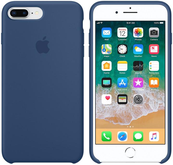 Apple silikonový kryt na iPhone 8 Plus / 7 Plus, kobaltově modrá