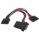PremiumCord napájecí Y kabel k HDD Serial ATA 3xF/1xM 16cm