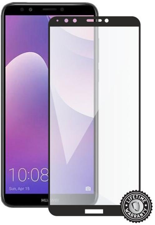Screenshield ochrana displeje Tempered Glass pro HUAWEI Y7 Prime (2018) (full cover), černá