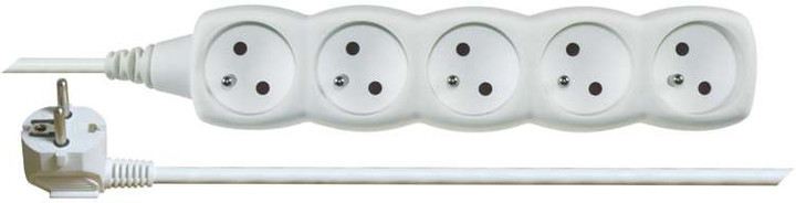 Emos prodlužovací kabel – 5 zásuvek, 3m, bílá