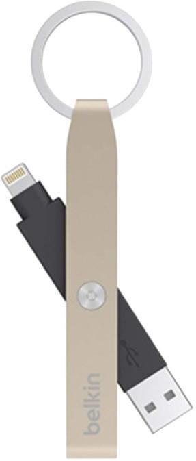 Belkin Keychain USB - Lightning konektor, zlatá