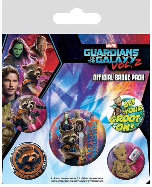 Odznaky Guardians of the Galaxy, 5 kusů