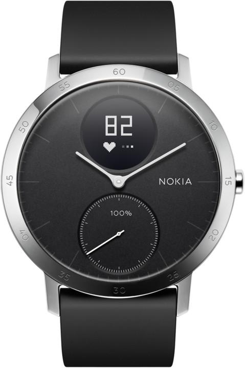 Nokia chytré hodinky Steel HR (40mm) - černá HWA03-40black-All-Inter ... 338523d5bd