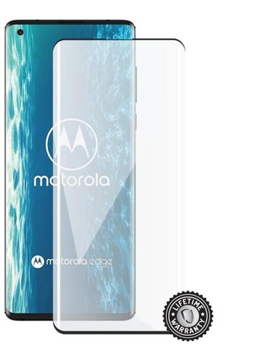 Screenshield ochrana displeje Tempered Glass pro Motorola Edge XT2063, Full Cover, černá