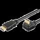 PremiumCord HDMI zahnutý konektor 270° 1m + Ethernet kabel