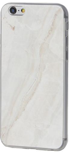 EPICO pružný plastový kryt pro iPhone 6/6S MARBLE - white