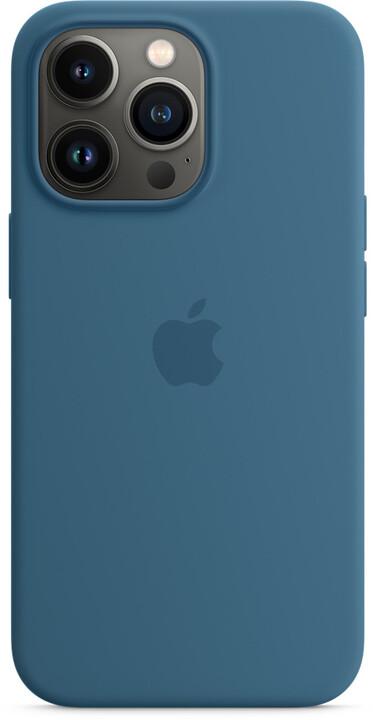 Apple silikonový kryt s MagSafe pro iPhone 13 Pro, ledňáčkově modrá