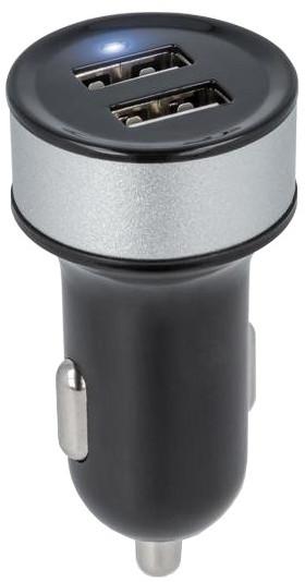 Forever autodobíječka 2 x USB 2100mA TFO, černý