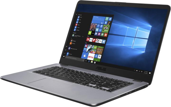 ASUS VivoBook X505BA, šedá
