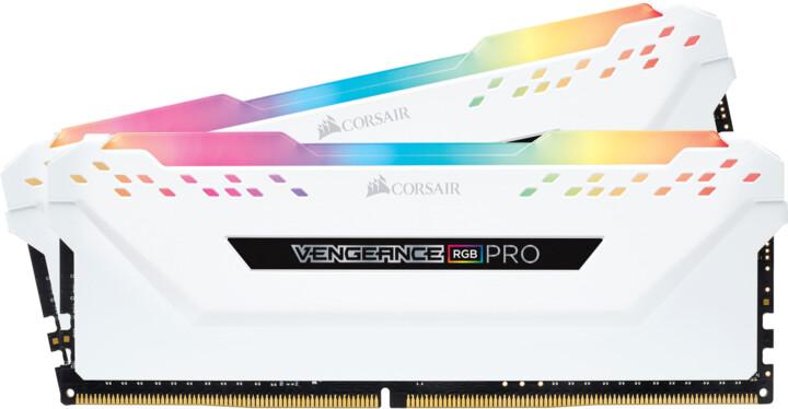 Corsair Vengeance RGB PRO 16GB (2x8GB) DDR4 2666 CL16, bílá