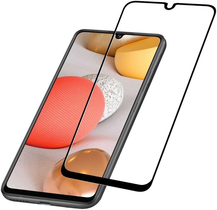 Cellularline tvrzené sklo Capsule pro Samsung Galaxy A42, na celý display, černá