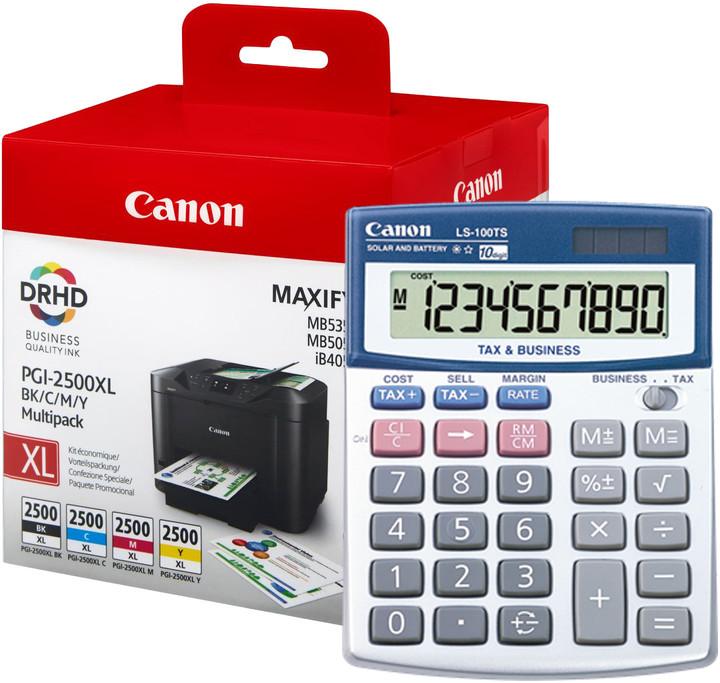 Canon PGI-2500XL Bk/C/M/Y multipack + kalkulačka LS-100T