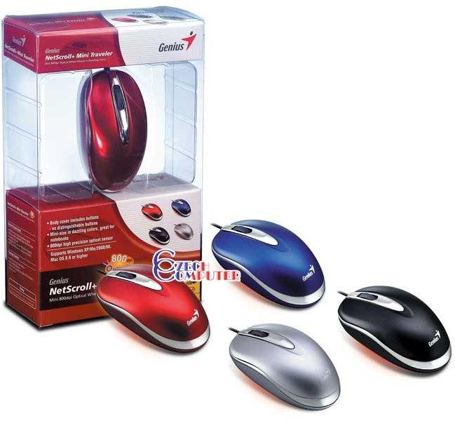 Genius NetScroll+ Mini Traveler USB+PS/2 stříbrná