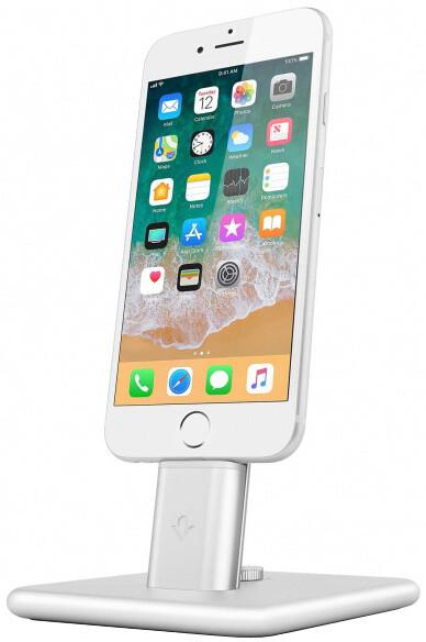 TwelveSouth HiRise 2 stojan na iPhone, iPad mini - stříbrná