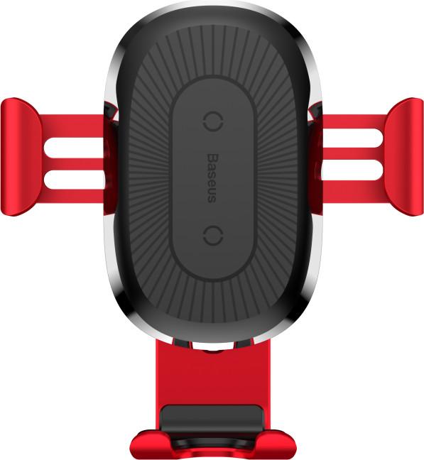 Baseus držák do auta s bezdrátovým nabíjením, červená