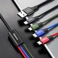 Baseus kabel Fast 4-in-1 Lightning + Type-C + Micro (2) 3.5A 1.2M, černá