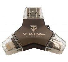Viking 64GB, lightning, micro USB, USB typ C černá