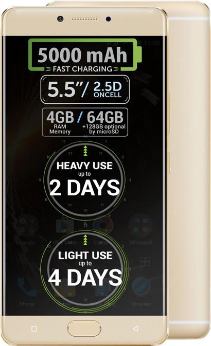 Allview P9 Energy, zlatá