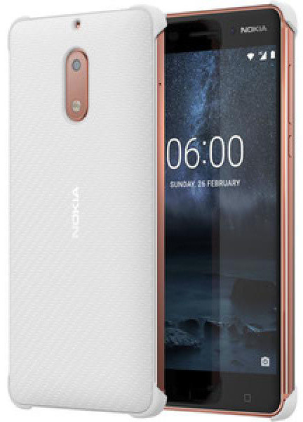 Nokia Carbon Fibre Design Case CC-802 for Nokia 6, bílá