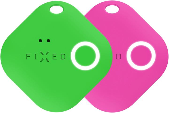 FIXED Key finder Smile s motion senzorem, DUO PACK, zelená + růžová