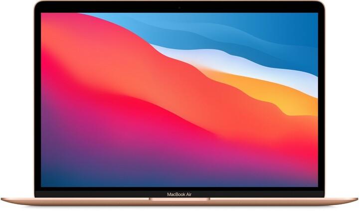 Apple MacBook Air 13, M1, 16GB, 256GB, 7-core GPU, zlatá (M1, 2020)
