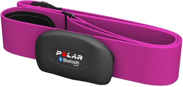 Polar H7 černý - monitor srdečního tepu, růžový