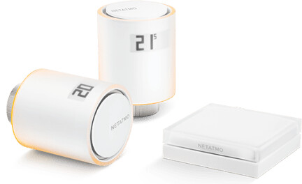 Netatmo Valves Starter pack - 2x thermo hlavice a relé NVP-EN